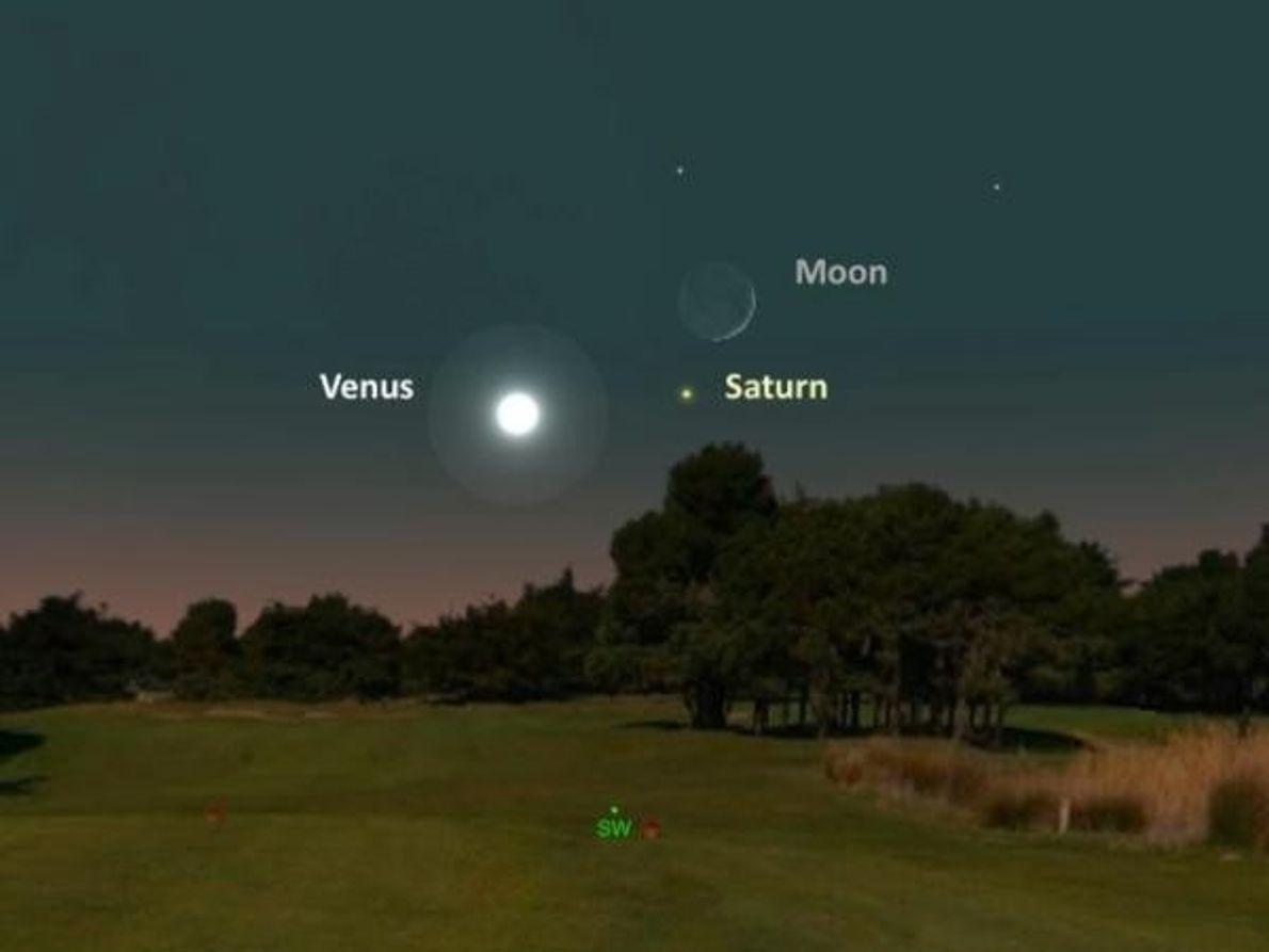 La Luna y Saturno – 2 de noviembre