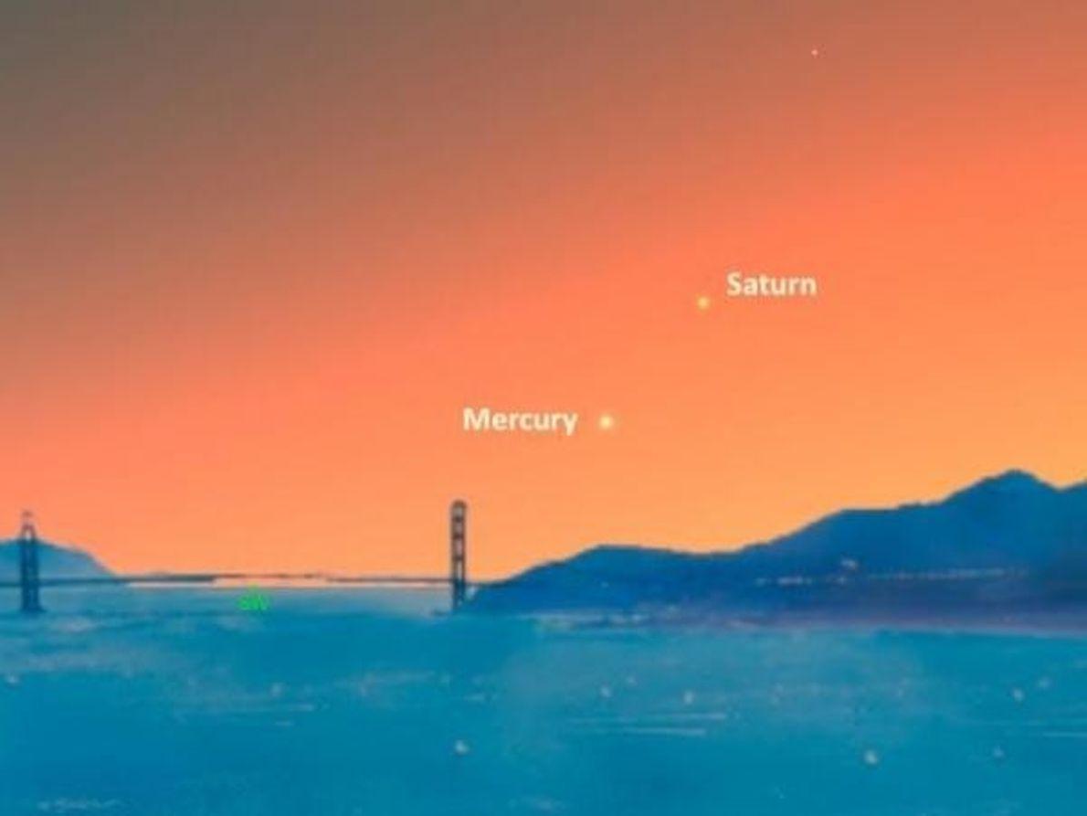 Mercurio se encuentra con Saturno – 23 de noviembre