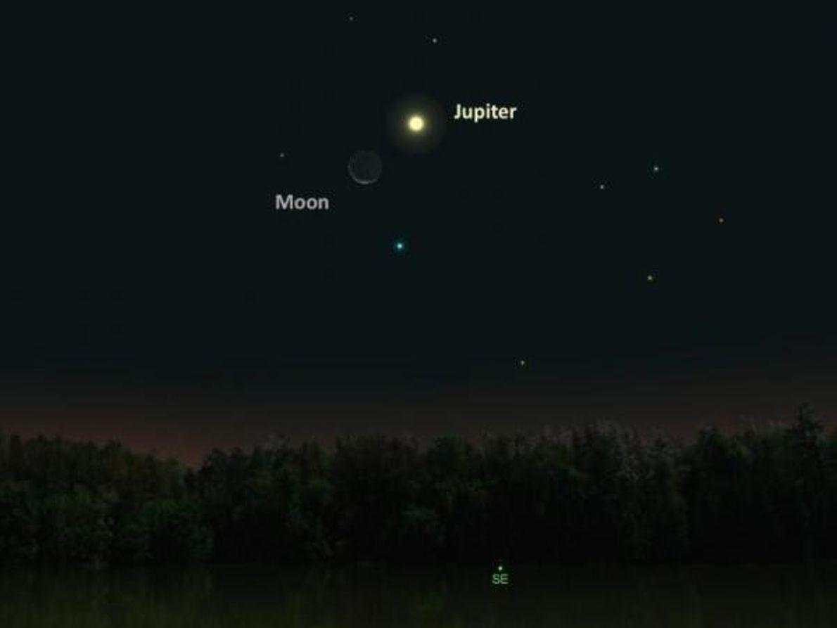 La Luna y Júpiter – 25 de noviembre