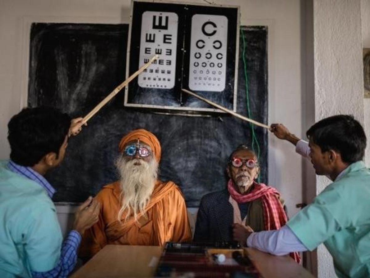 Exámenes oculares en India