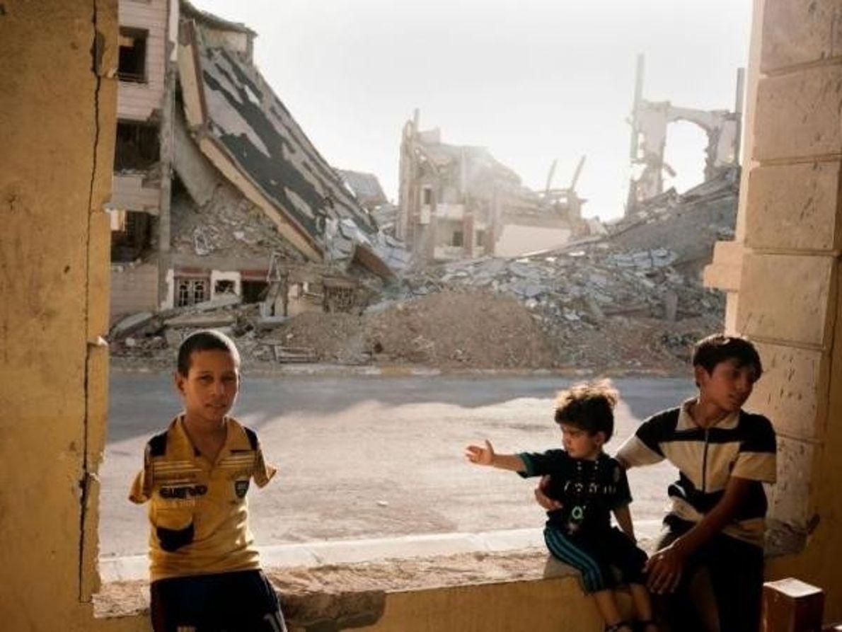 Refugiados en Ramadi