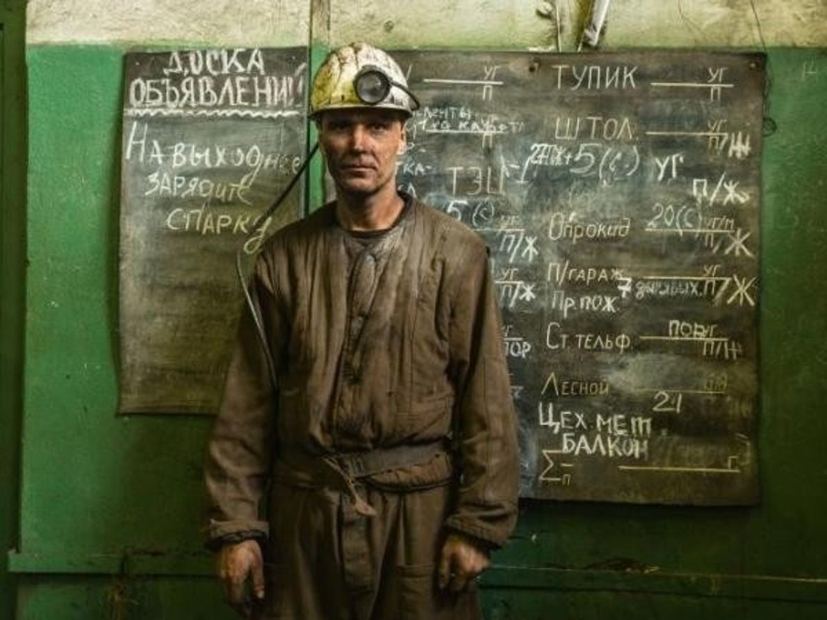 Minero en Spitsbergen