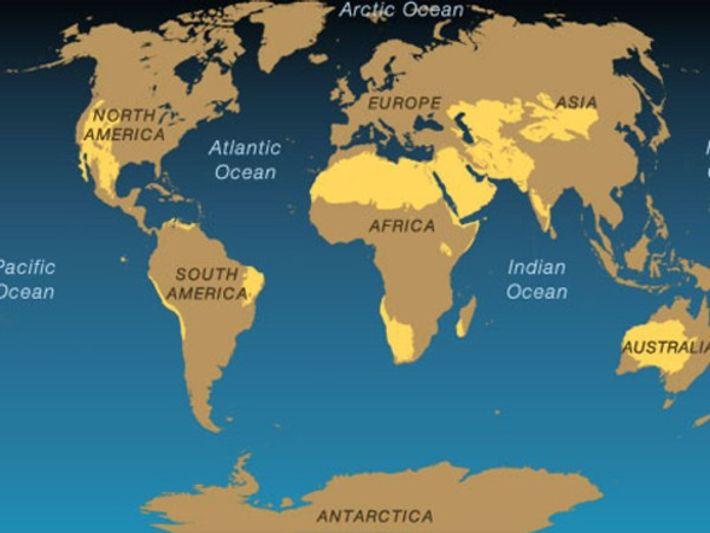 Mapa de los desiertos
