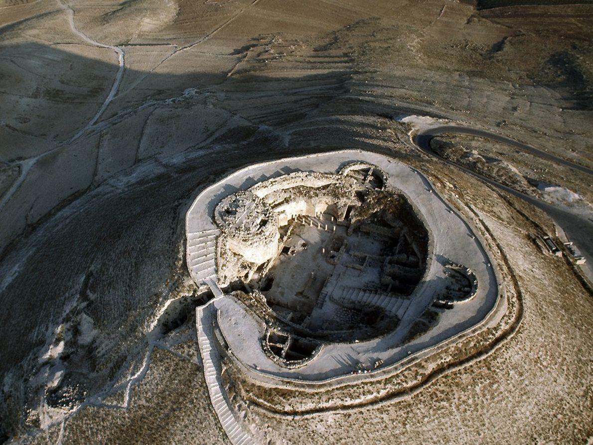 Fotografía aérea de Herodión