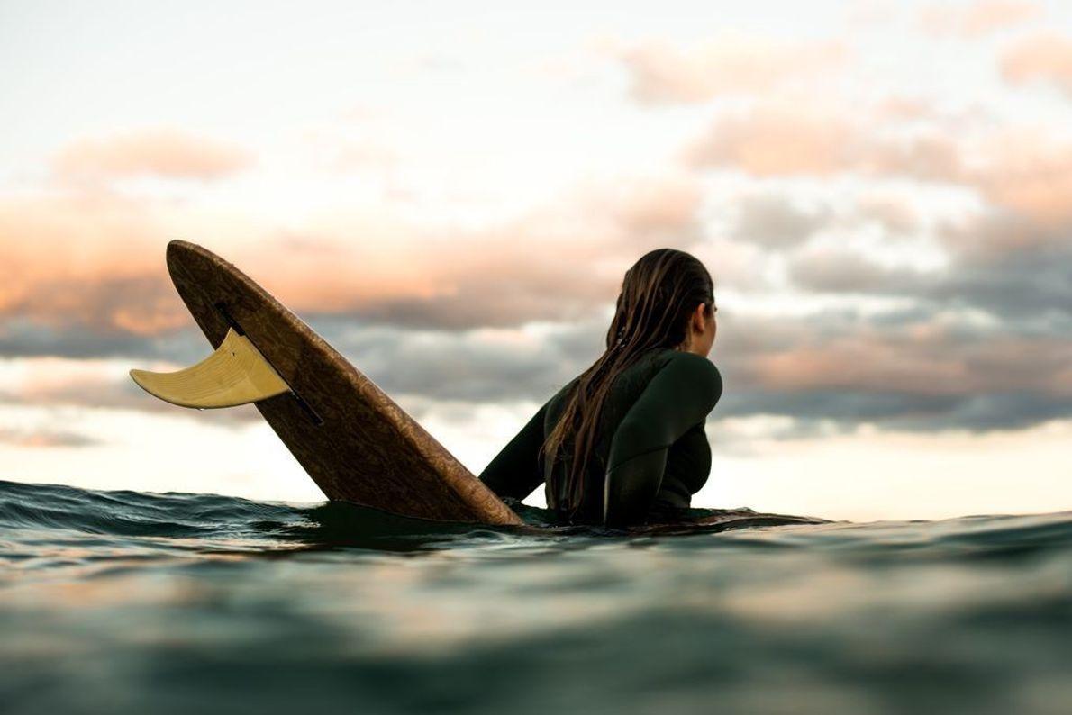 Surfista en el Pacífico