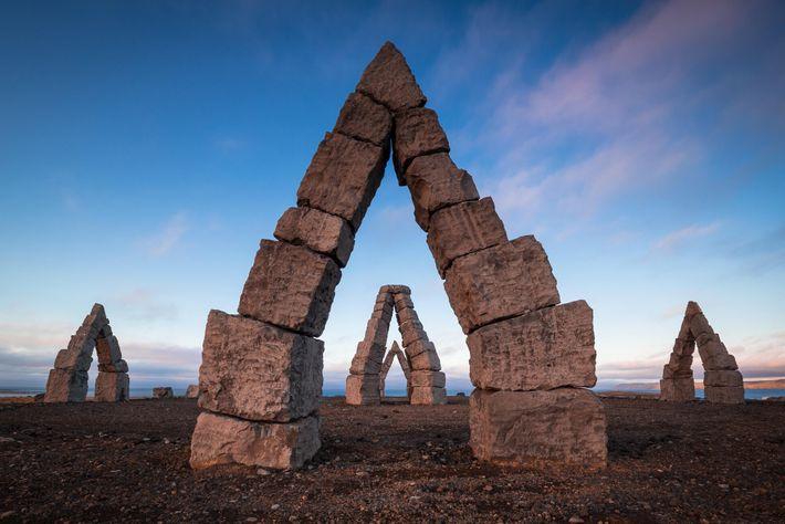 Fotografía del reloj de sol Arctic Henge