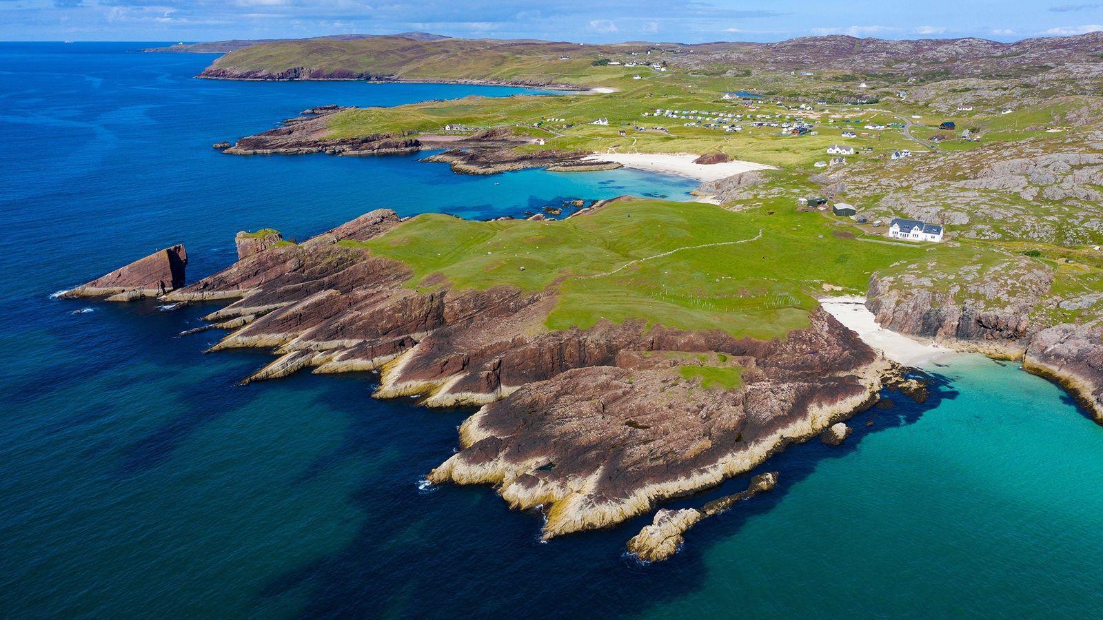 Costa de Clachtoll, en el noroeste de Escocia