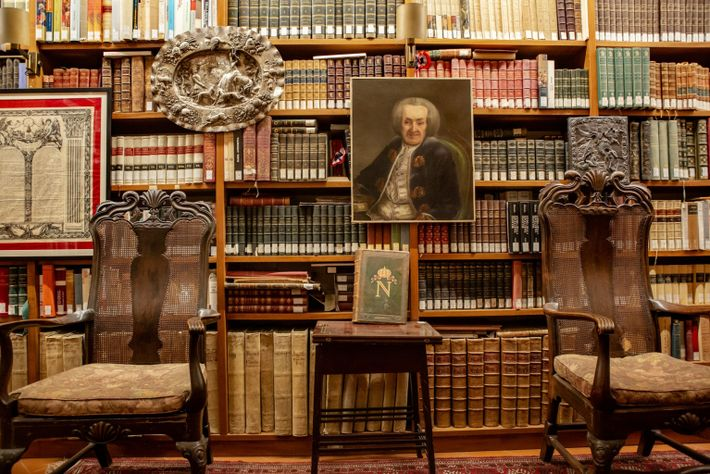 La biblioteca en la casa de Giovanni Spadolini