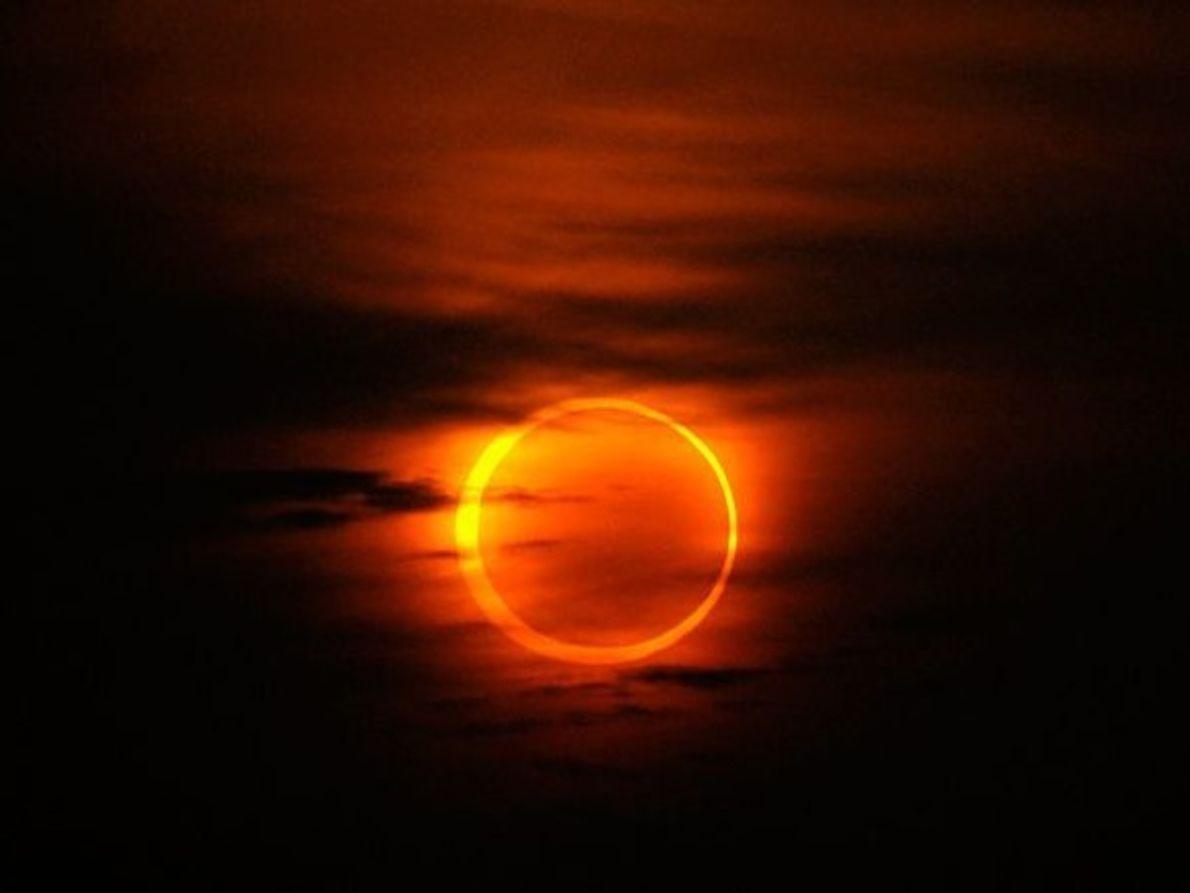 Eclipse anular sobre China
