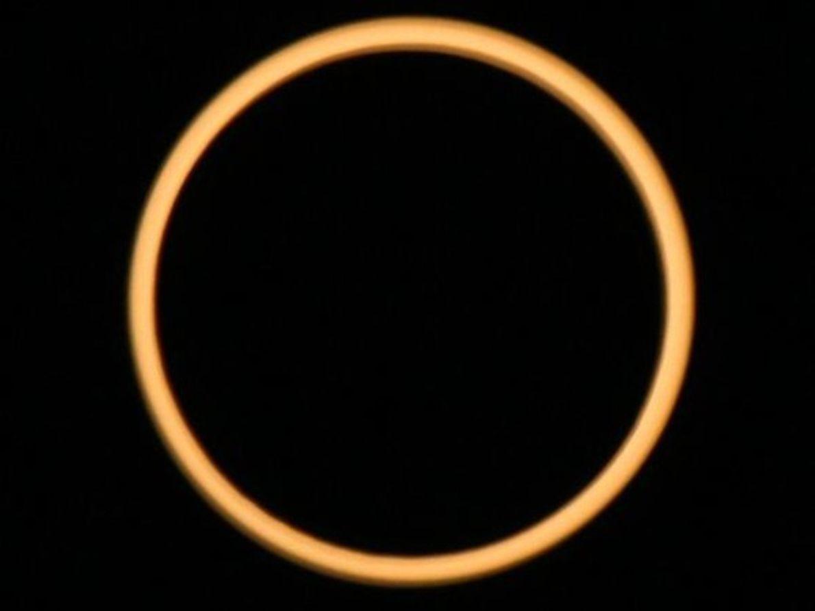 Eclipse anular sobre la India