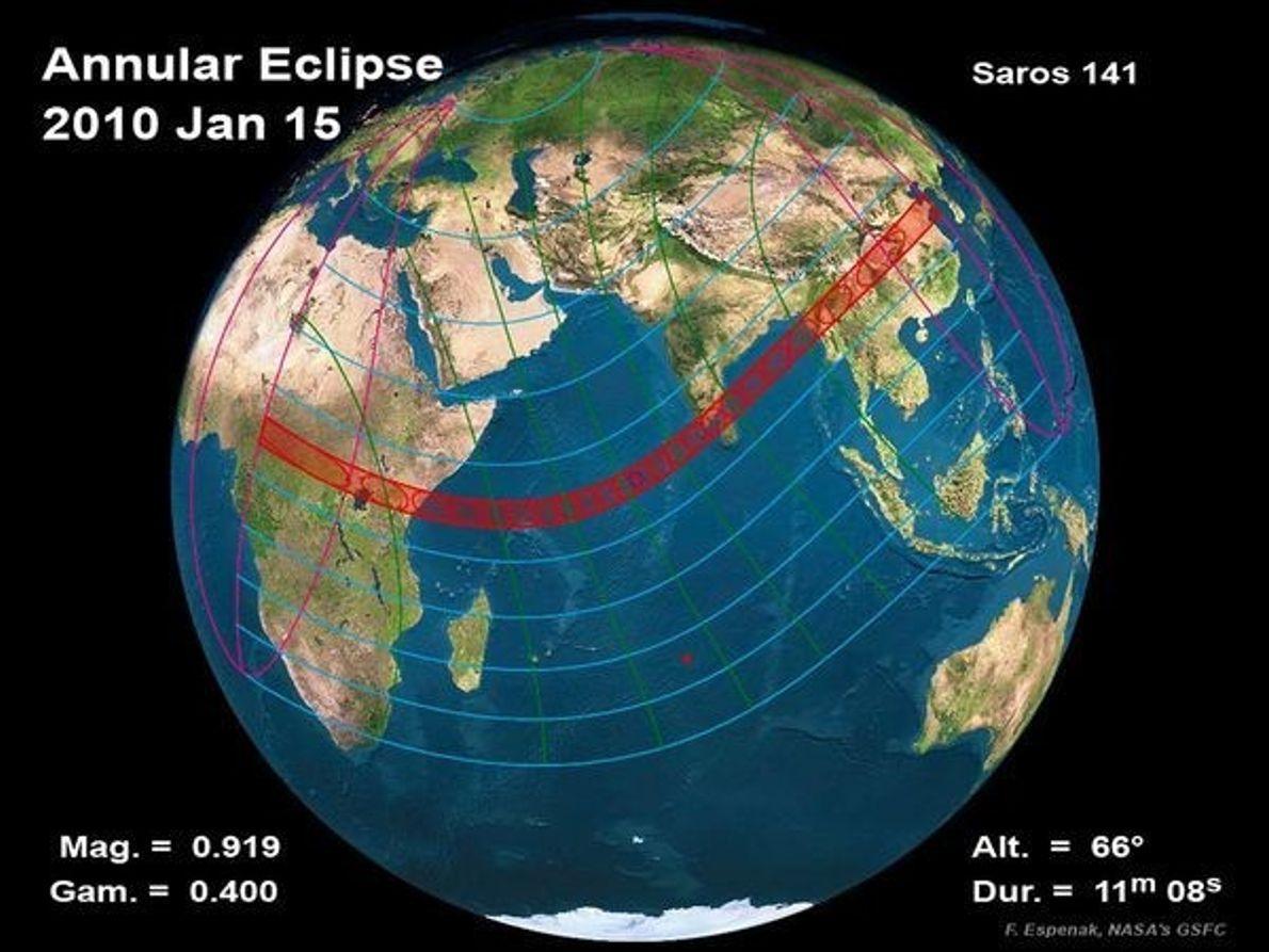 Recorrido del eclipse