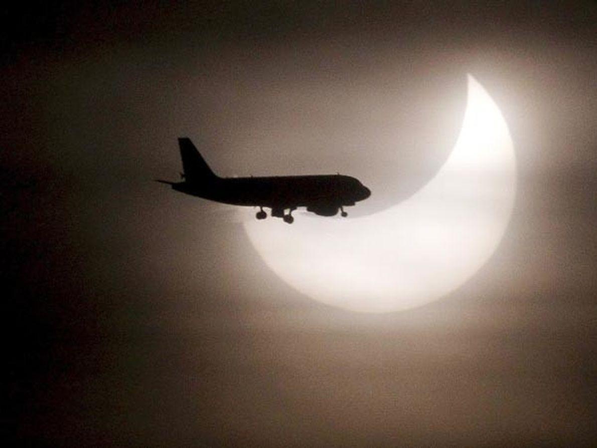 Silueta de avión