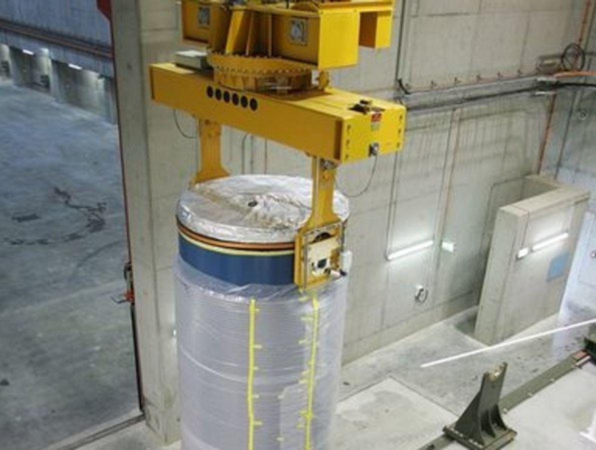 Cisterna con residuos nucleares