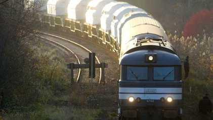 Tren transportando residuos nucleares