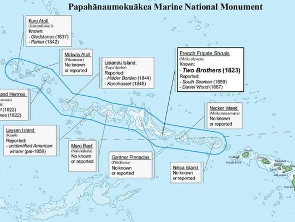 Naufragios de barcos balleneros en Hawai