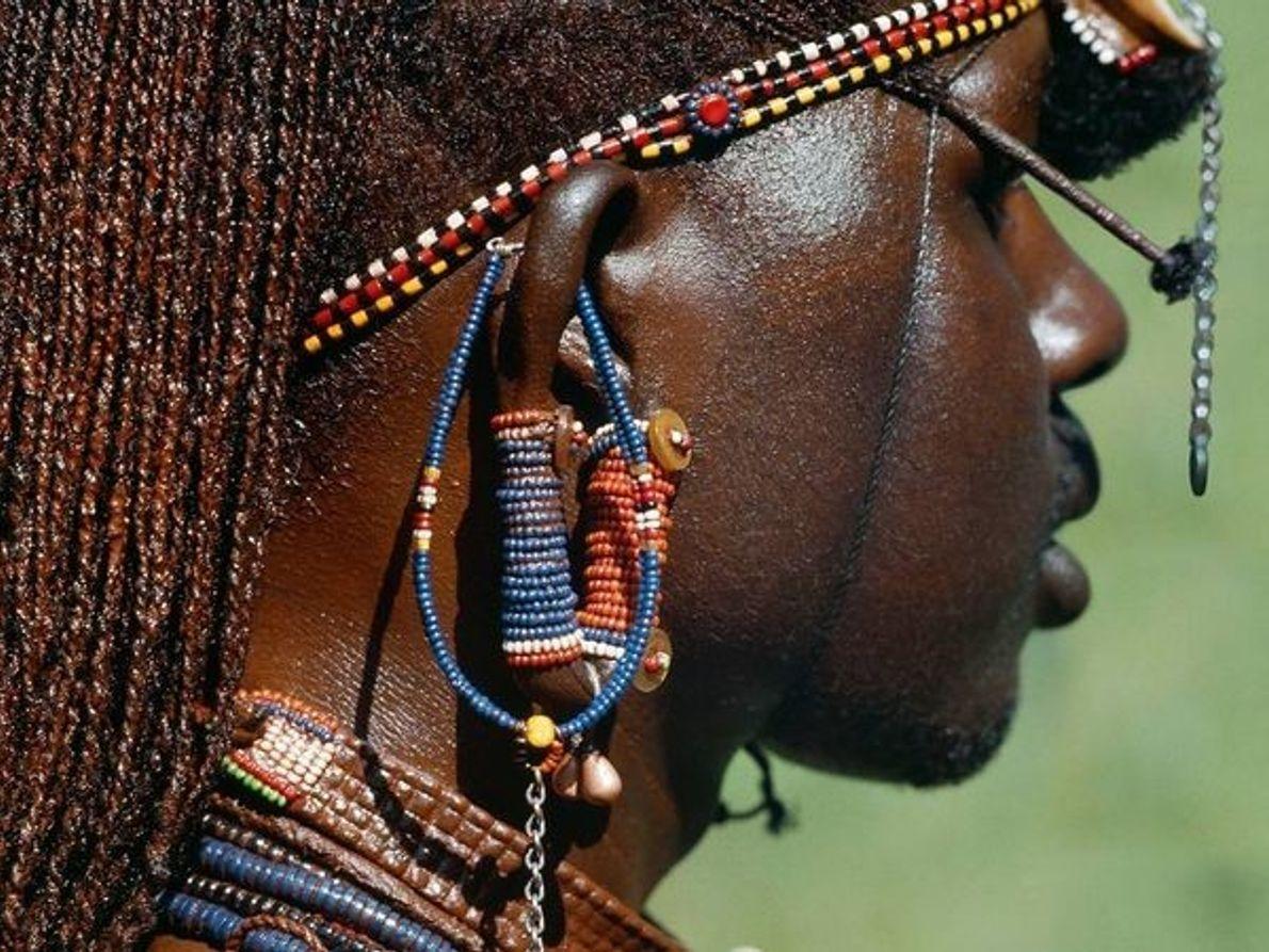 El hombre masai, Kenia.