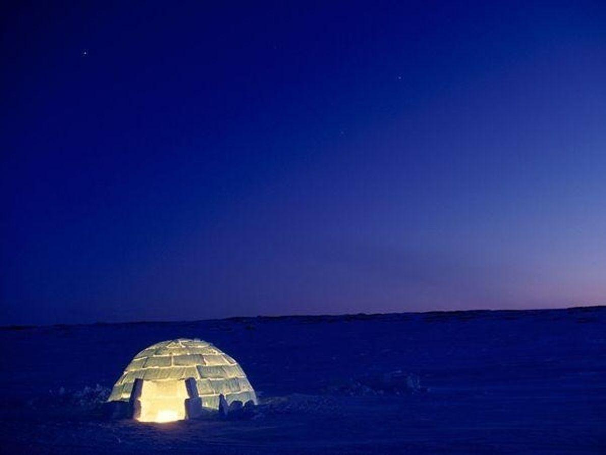 Iglú en el Ártico