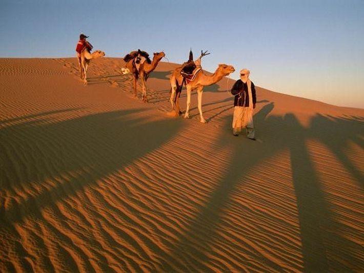 Libia. Miembros de la Tribu Tuareg