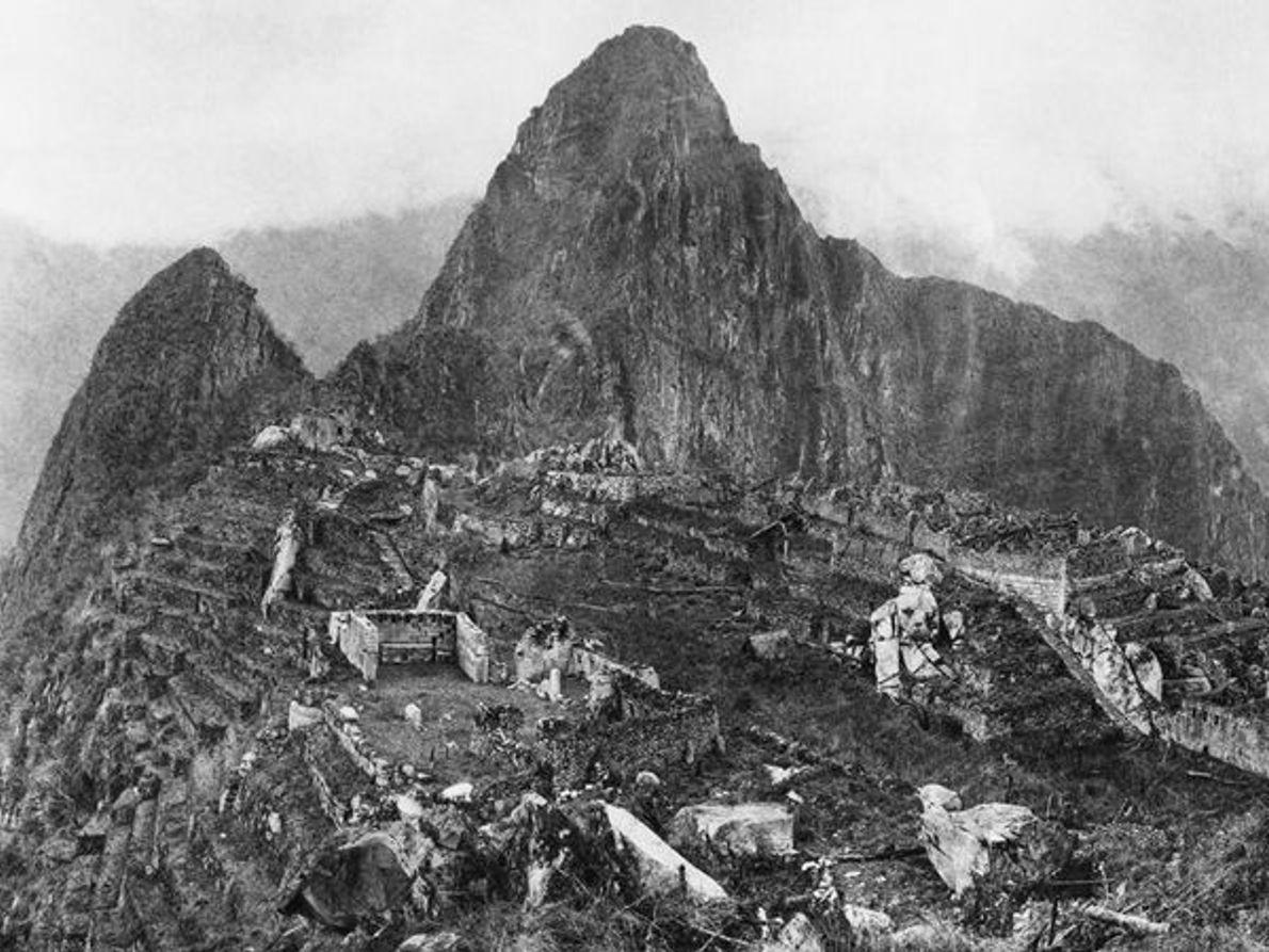 Primeras fotos sobre arqueología: Machu Picchu