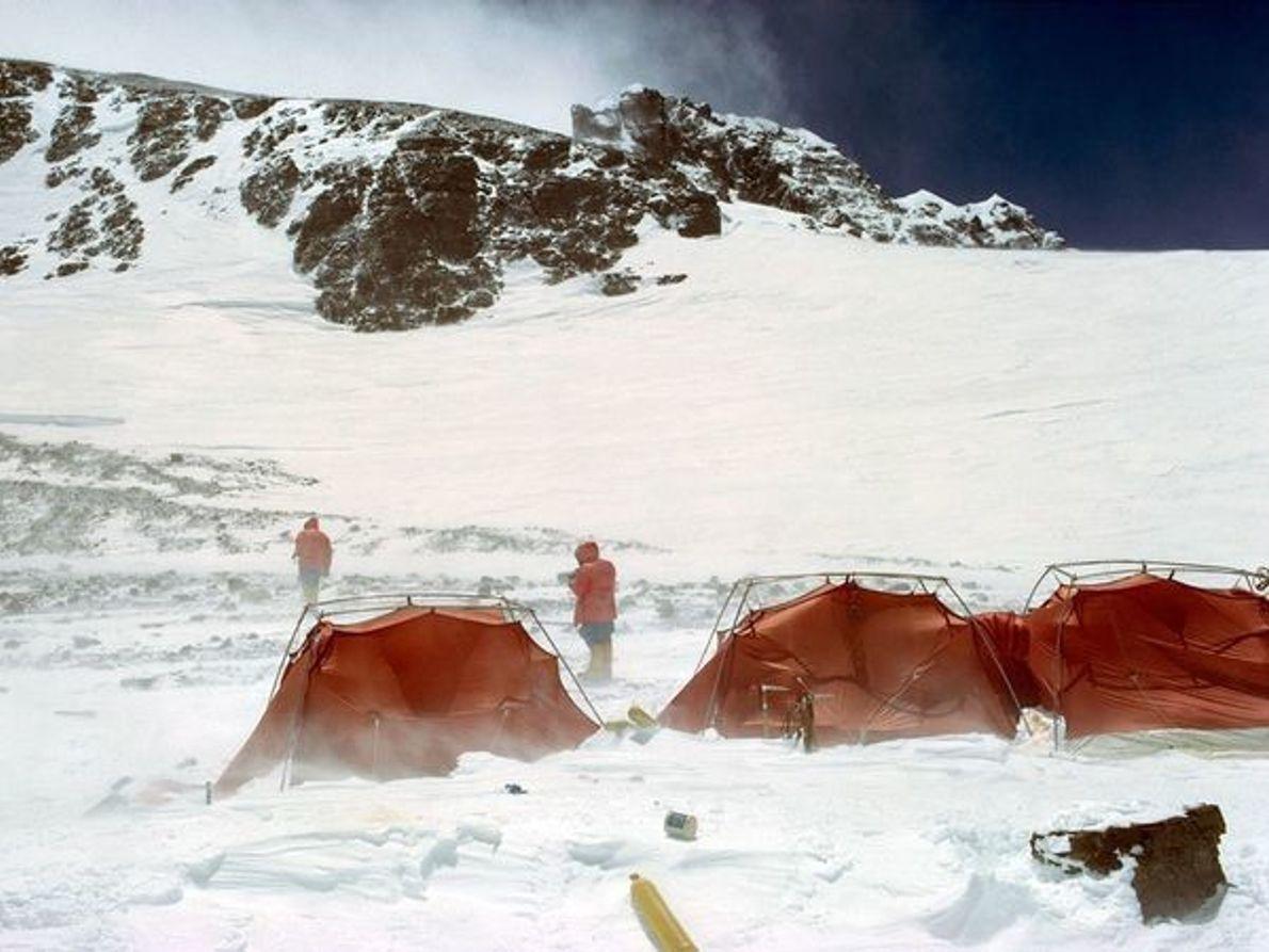 Campamento a gran altitud