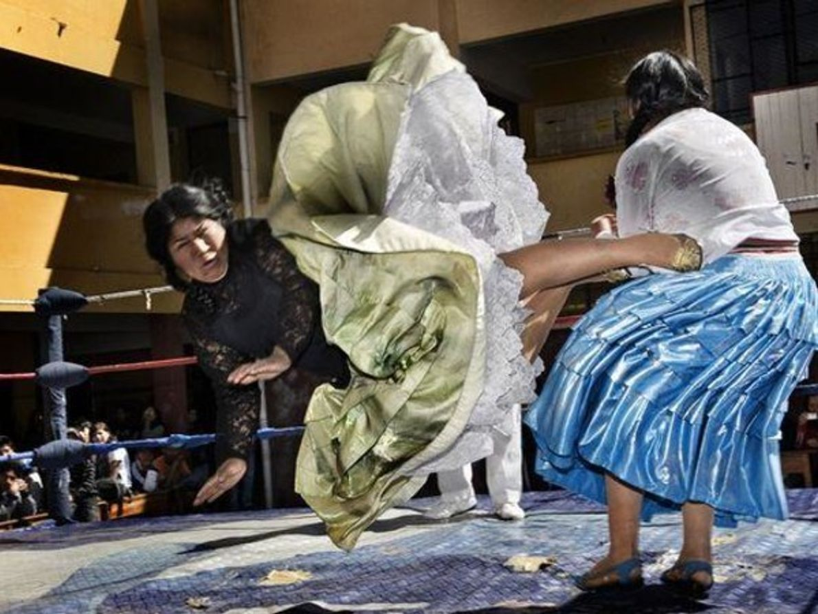 Luchadoras bolivianas