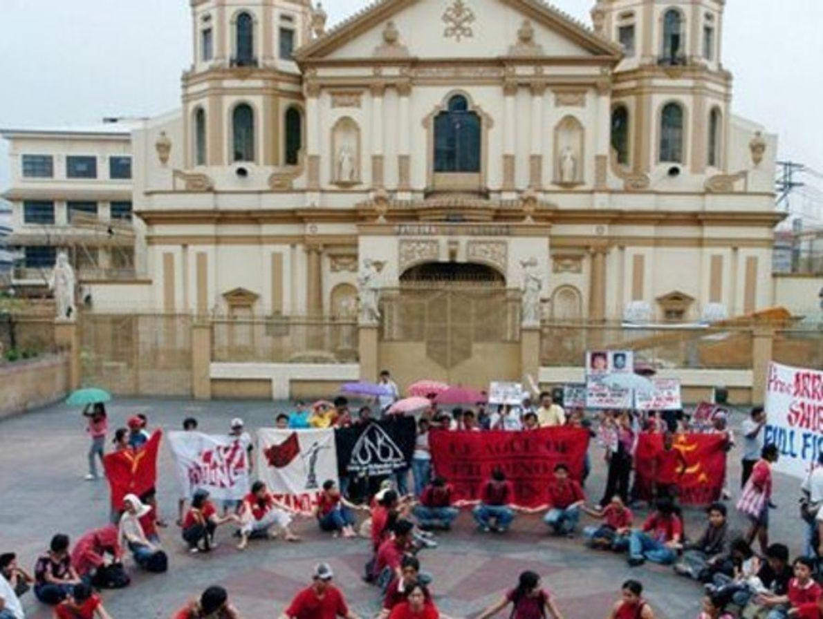 Protesta en Filipinas