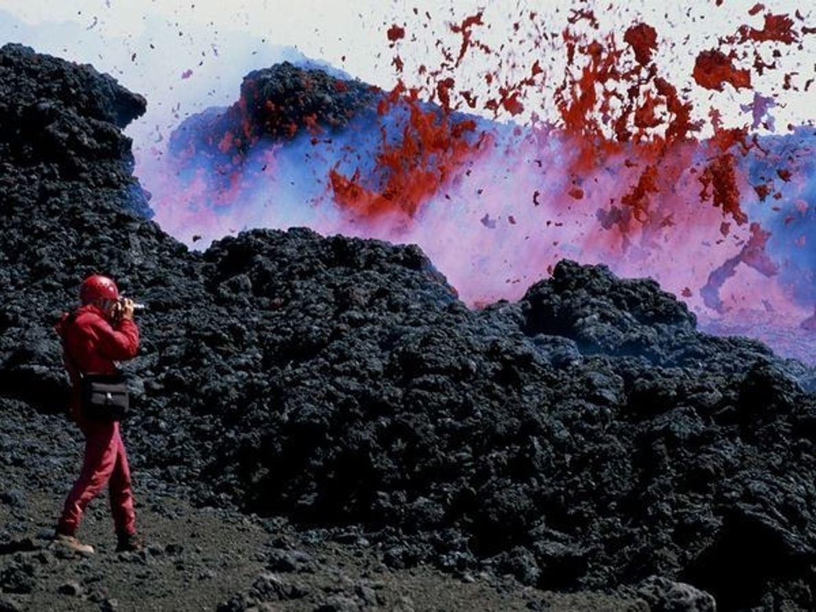 Explosión en el Monte Etna