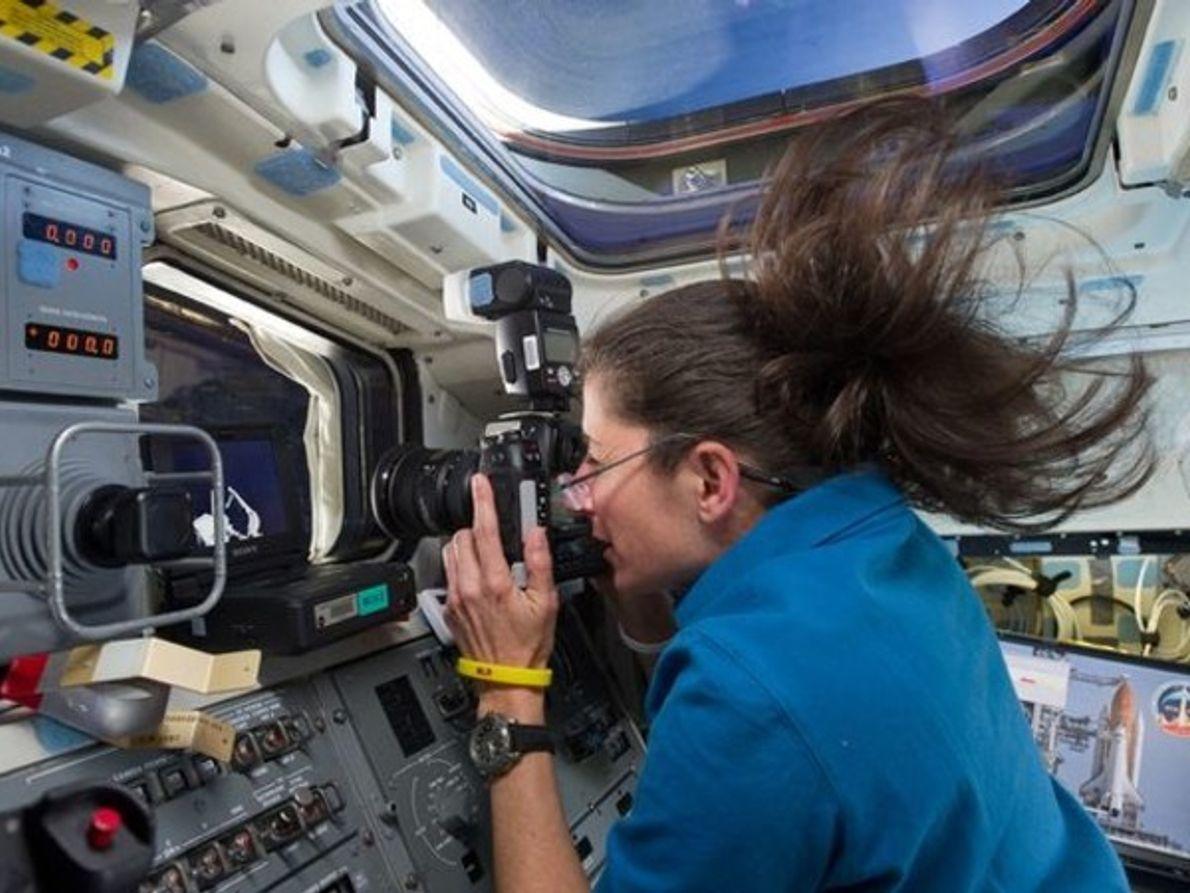 Fotografiando al transbordador