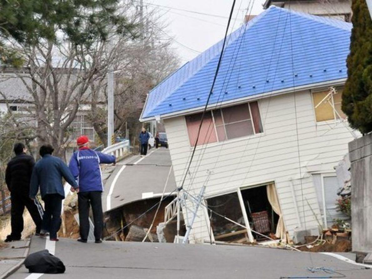 Colapso tras el terremoto