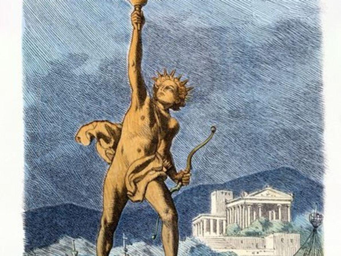 El coloso de Rodas, Grecia.