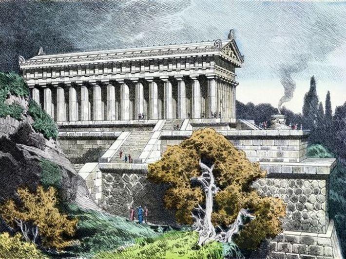El Templo de Artemisa, Turquía.
