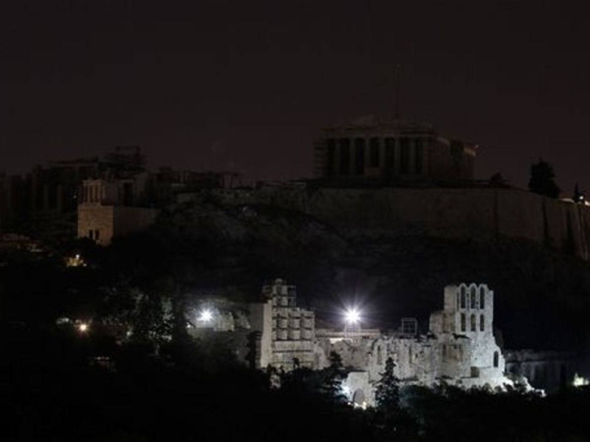 Atenas durante La Hora del Planeta