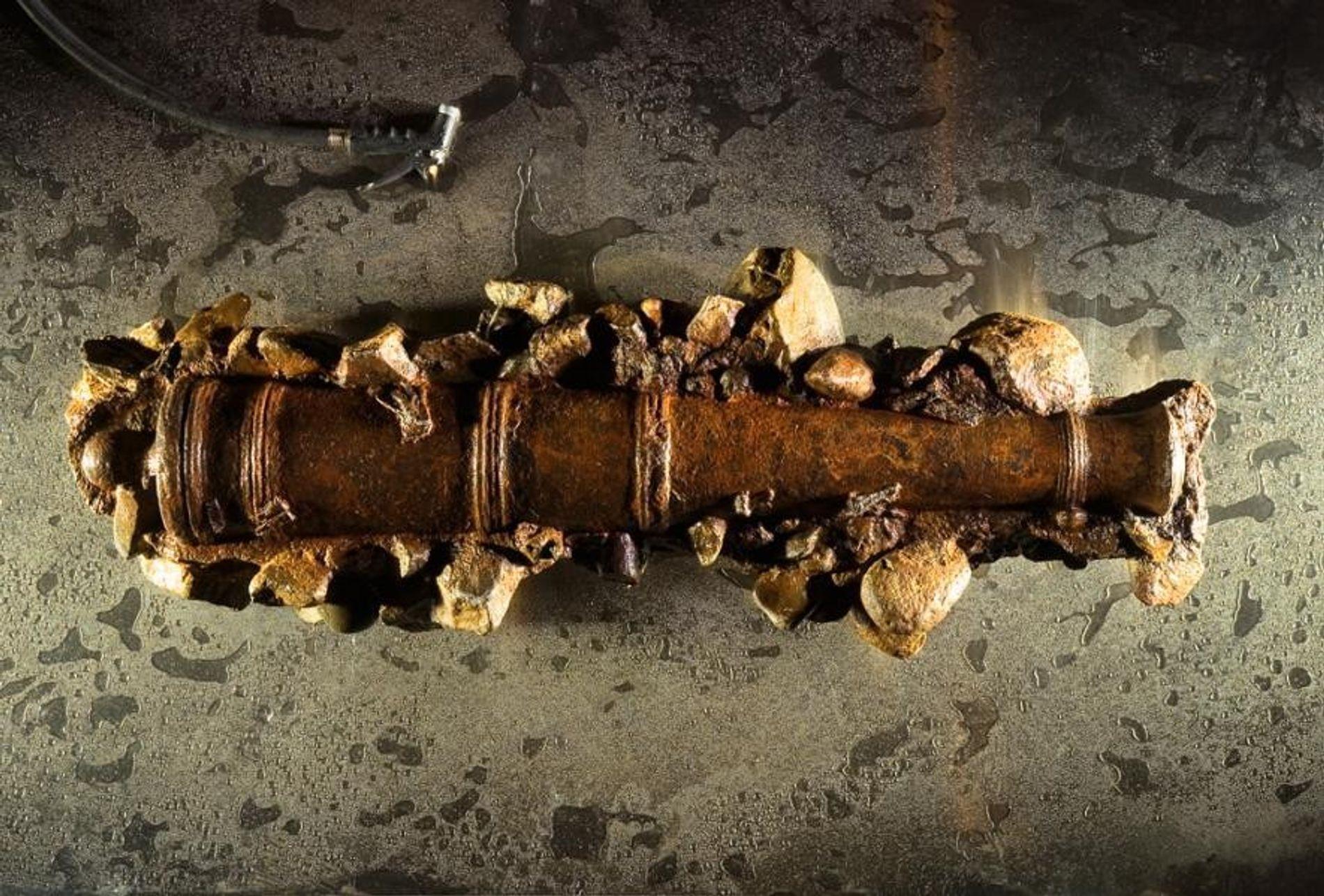 Un cañón de hierro