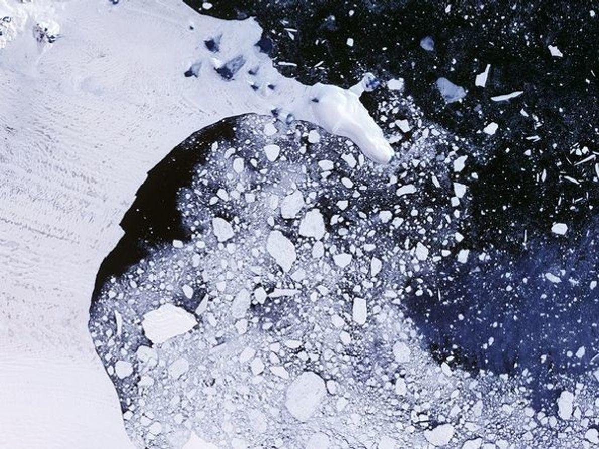 Barrera de hielo Larsen en desintegración