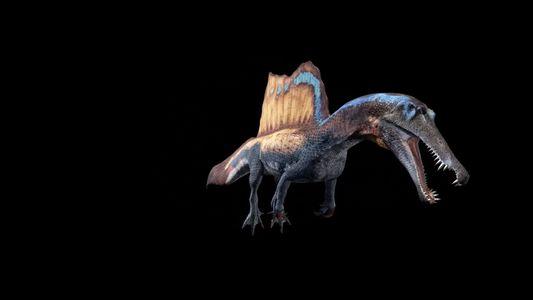 Animación 3D de un Spinosaurus