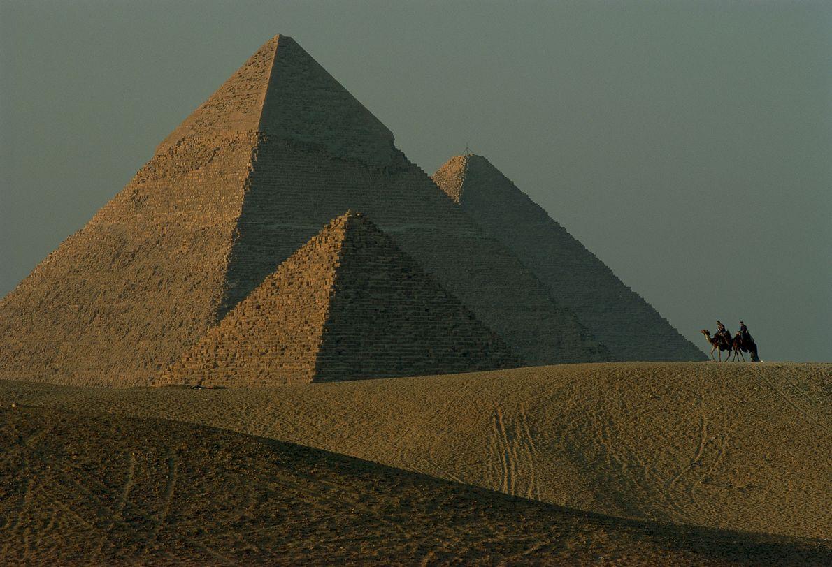 Imagen de las pirámides de Guiza.