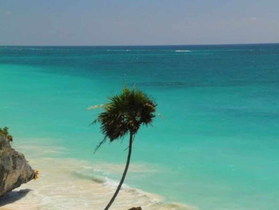 Mar Caribe en Tulum, México