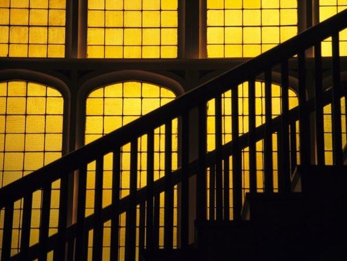 Silueta de una escalera