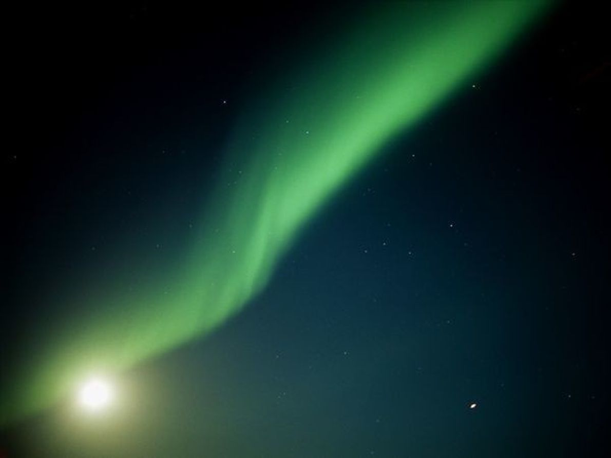 Aurora boreal en Manitoba