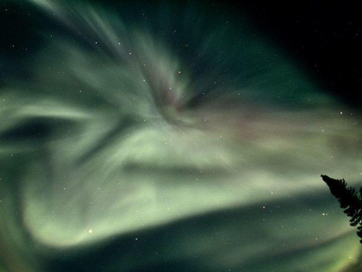 Aurora en el norte de Canadá
