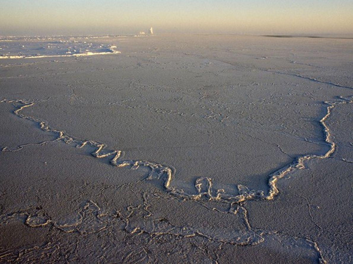 Témpanos en el océano antártico