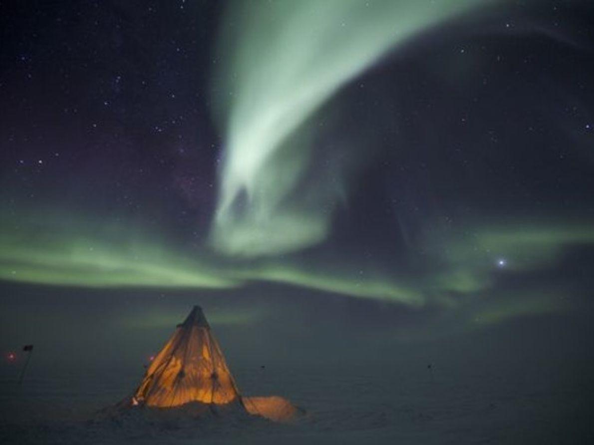 Acampando en el Polo Sur
