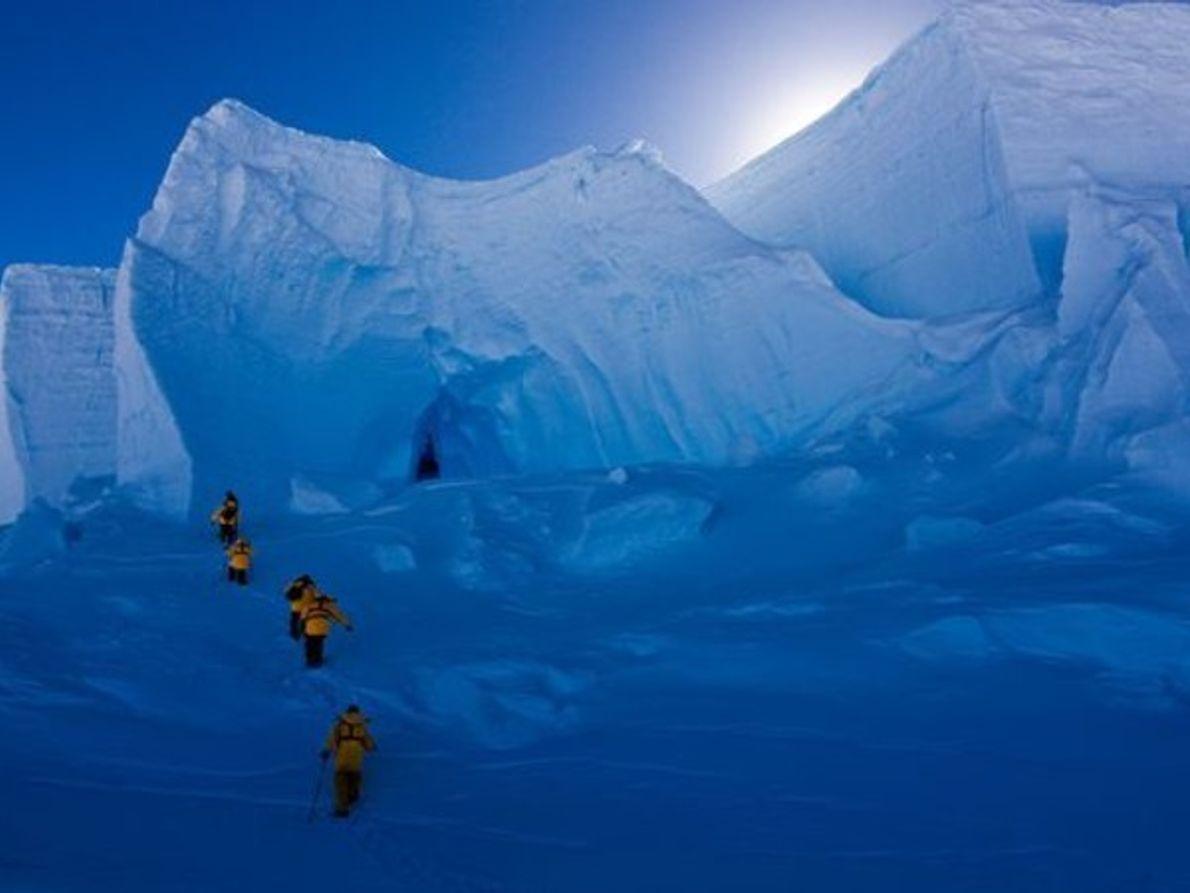 Los excursionistas de hielo