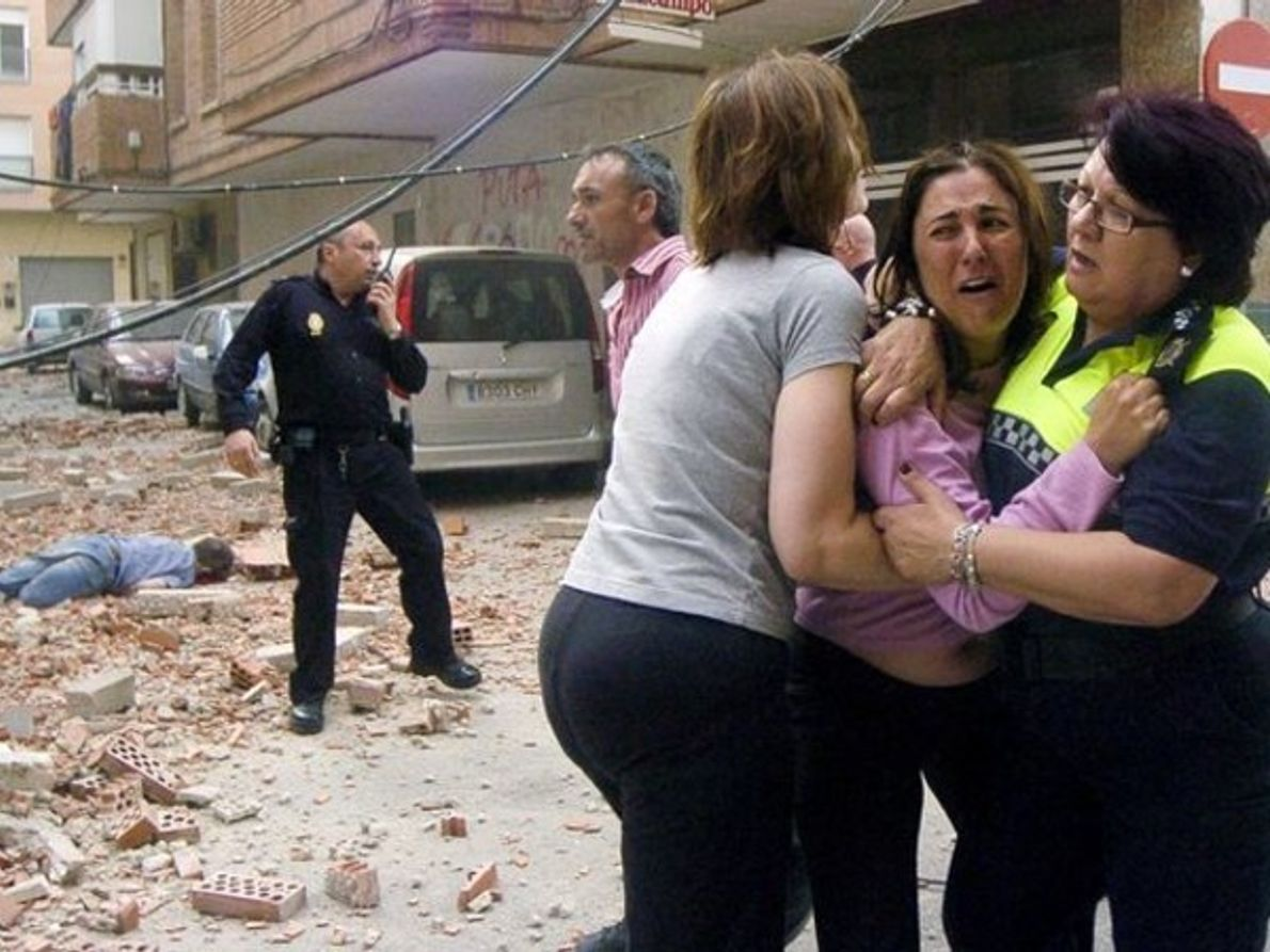 Las víctimas del terremoto de Lorca