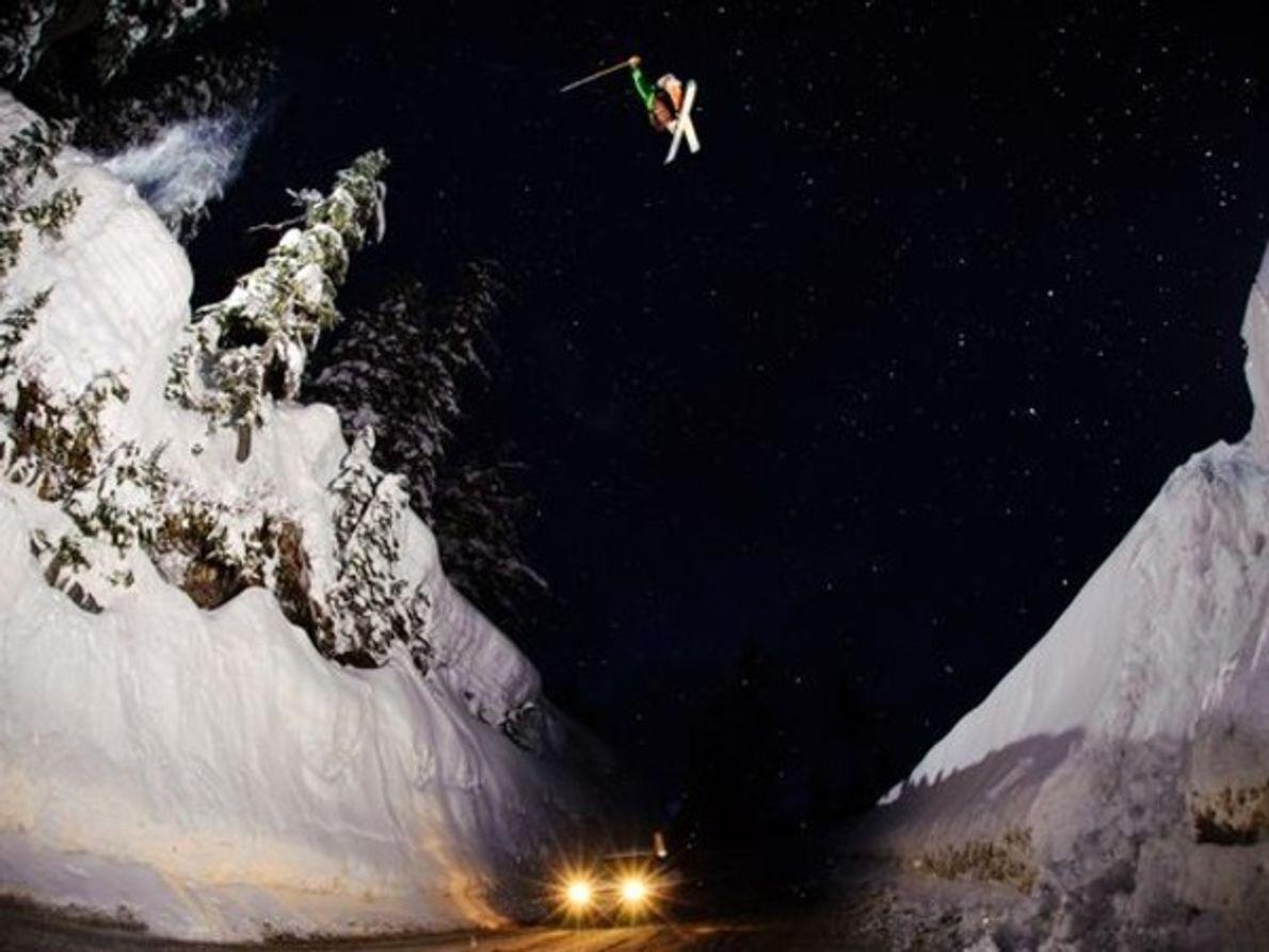 Saltar la brecha del Monte Baker, Washington