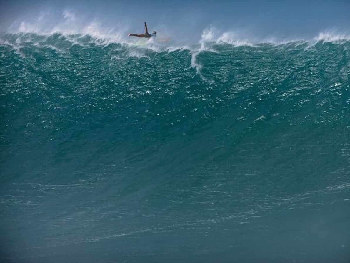 Surf bahía de Waimea, Hawai
