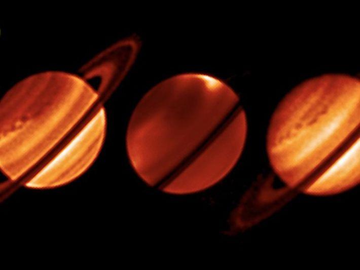 Descubren tormenta gigante sobre Saturno de proporciones mayores a las de la Tierra