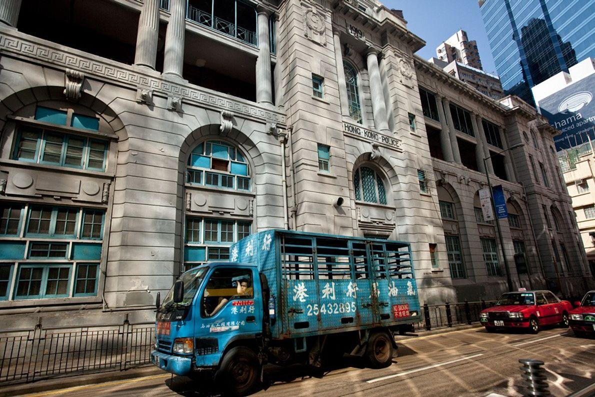 Camión azul, Hong Kong