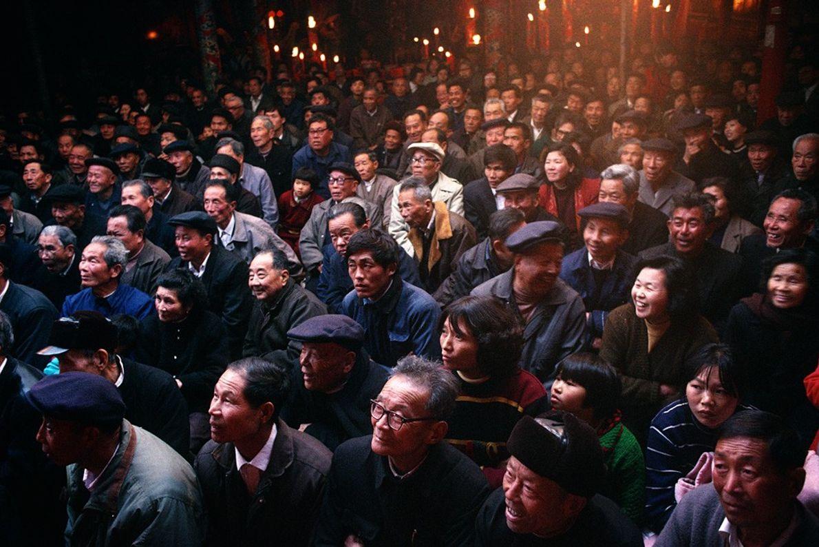 Público de la Ópera Ambulante, China