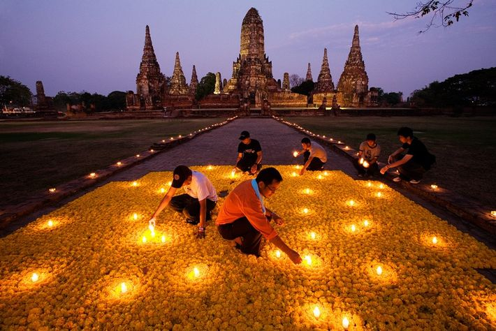 Homenaje floral, Tailandia